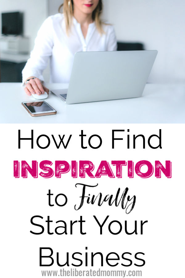 Mom at computer finding inspiration to finally start your side hustle.