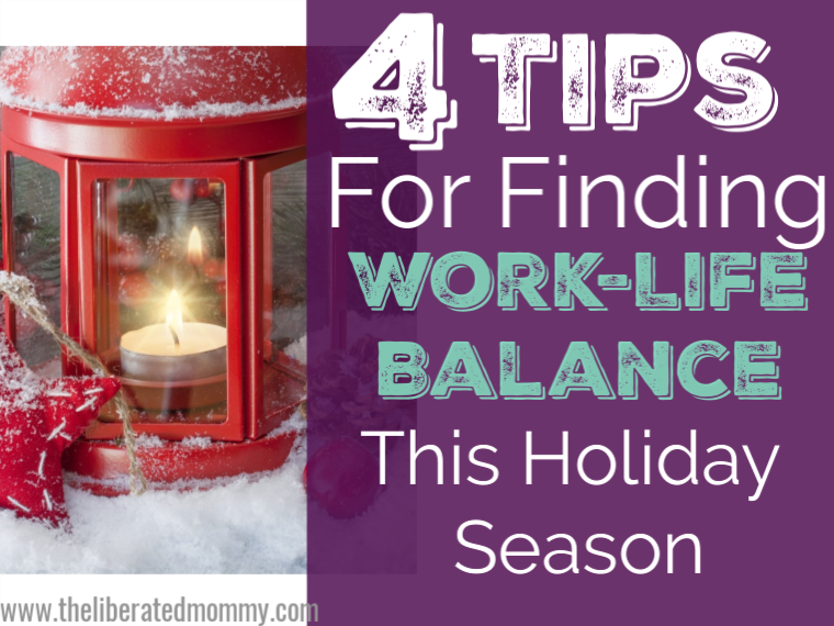 Work life balance as a mom entrepreneur this holiday season.