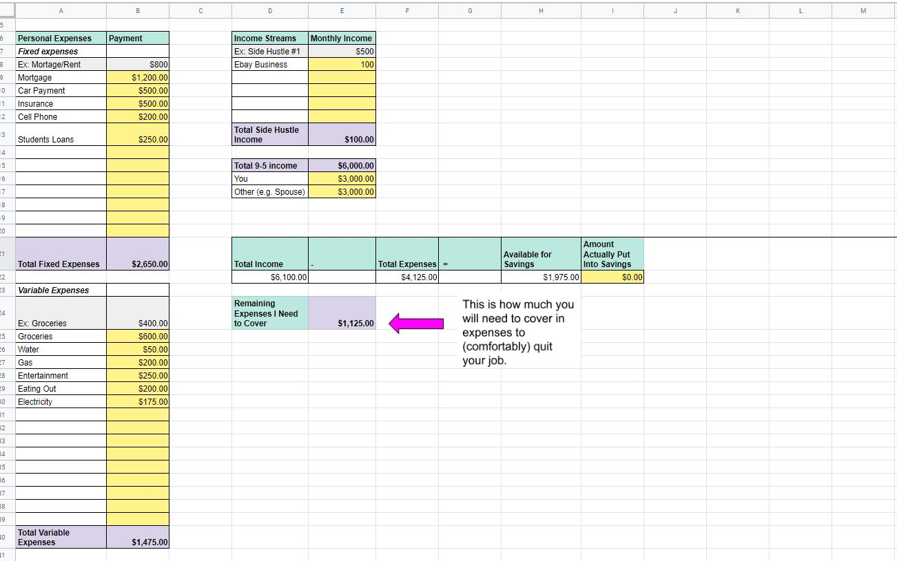 24 monthly budget sheets for expenses and income