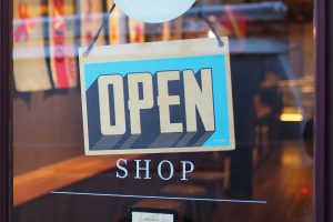 Open sign on shop symbolizing the opening of my online ebay store.